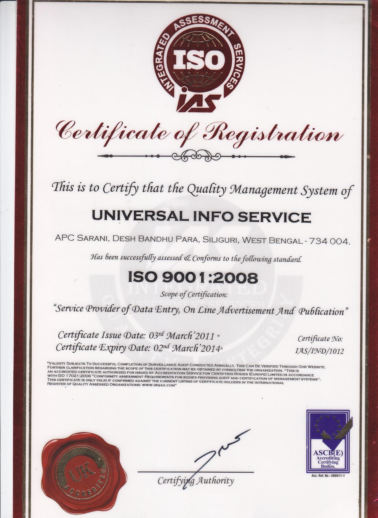 Biogeneral Iso Certificate Dyrevelferdfo