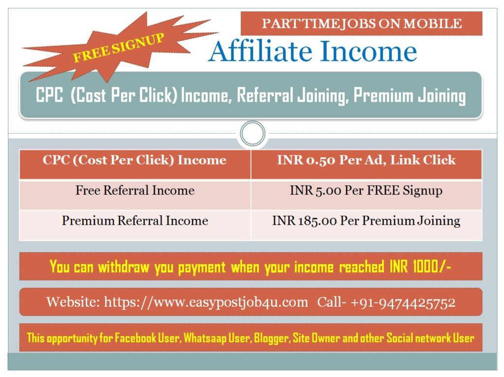 affilaite income